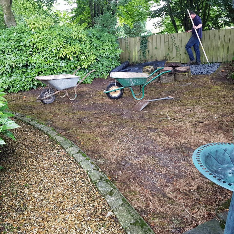 Slate Chippings In Garden